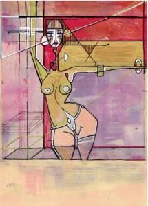 Femme au Carré, Encastrée et Posant Modulation-I