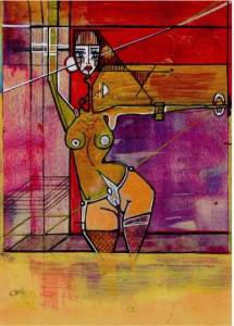 Femme au Carré, Encastrée et Posant Modulation-II