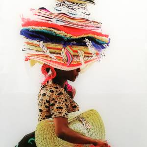 Angolan woman with hats
