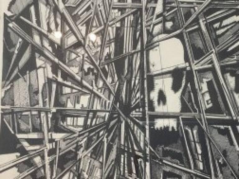 Mark Carmichael  - Skull in scaffolding