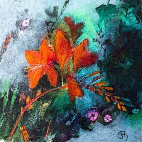 Patricia Sadler - Crocosmia in the Garden