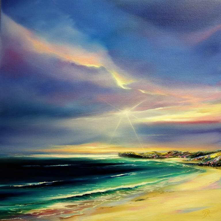 Douglas Roulston - Sun Flare Over Oldshoremore Bay