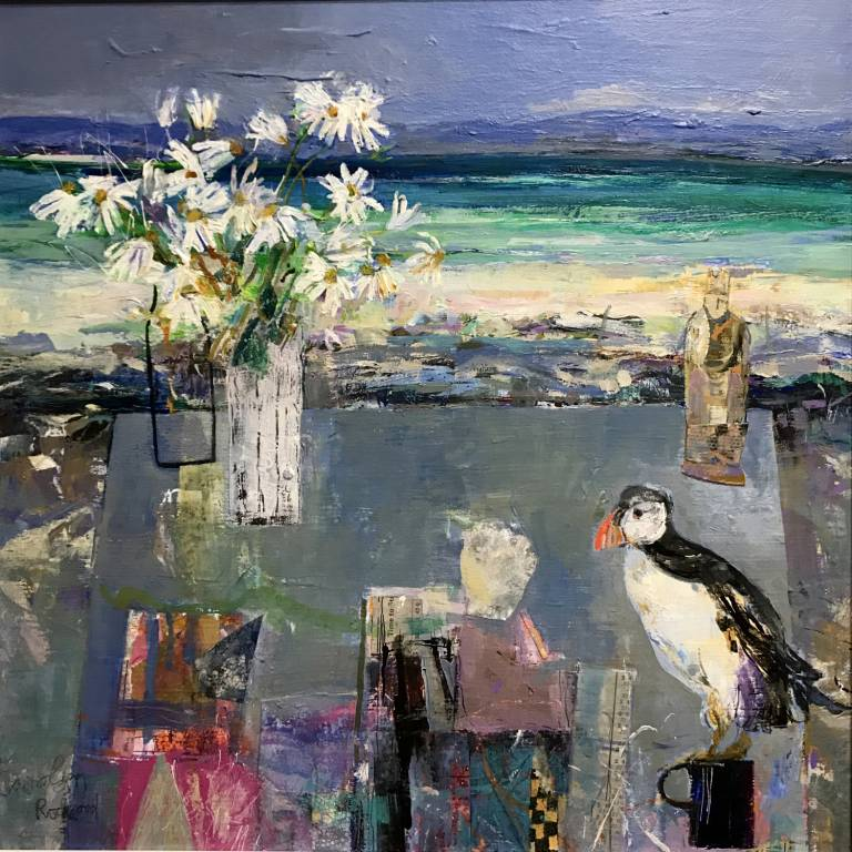 Carolyn Rockwood - Wild Daisies and Northern Sea Bird