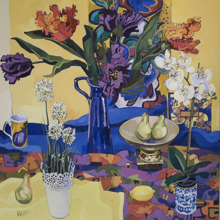 Jennifer Irvine - Still Life with White Orchid