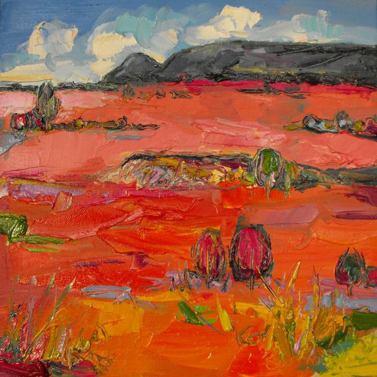 Judith Bridgland - Pink Grasses in Sunlight, the Campsies