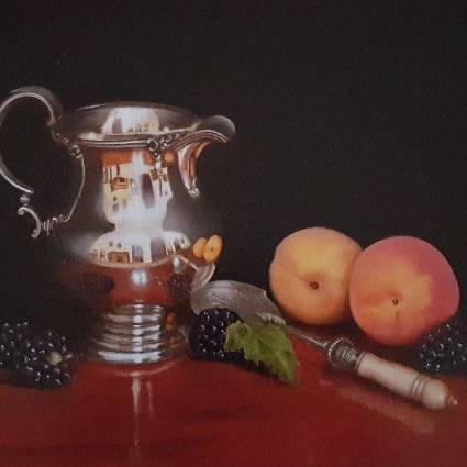 Hilary Gauci - Apricots and Silver