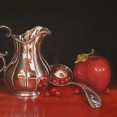Hilary Gauci - Silver and Red
