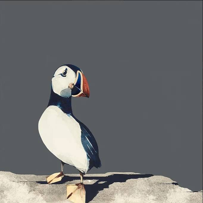 Ron  Lawson - Puffin Portrait