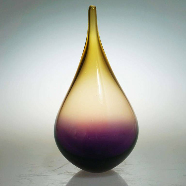 Elin Isaksson - Small Dewdrop Purple & Amber