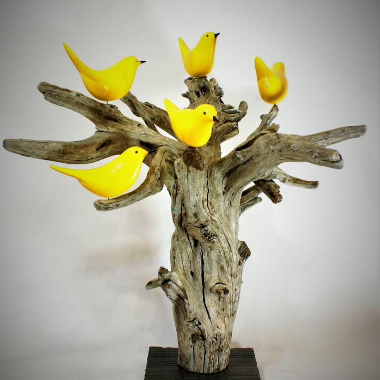 Michael Lythgoe - Yellow Birds in a Tree