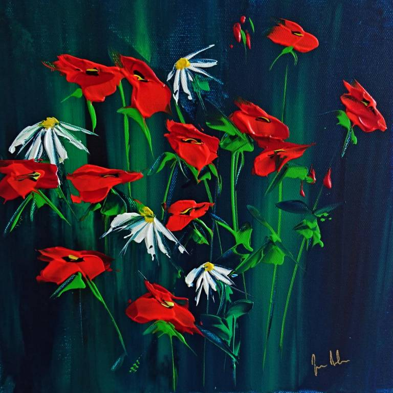 Jan  Nelson - Poppies and Daisies