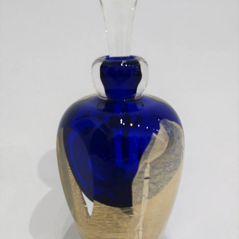 Faceted Silver Leaf Scent Bottle