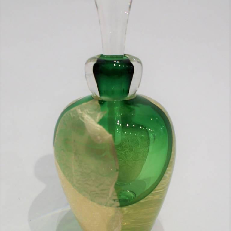 Silver Leaf Scent Bottle