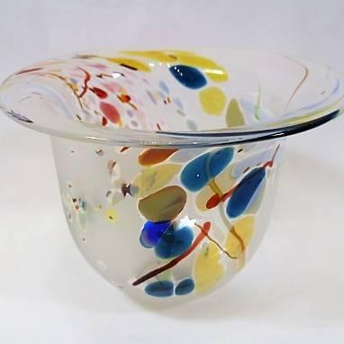 Shakspeare Glass - Seagrass Bowl Mini Fluted
