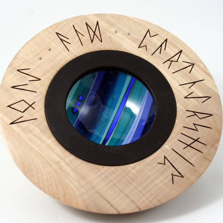 Scott Irvine - Wedding Bowl with Carved Runes (Sycamore)