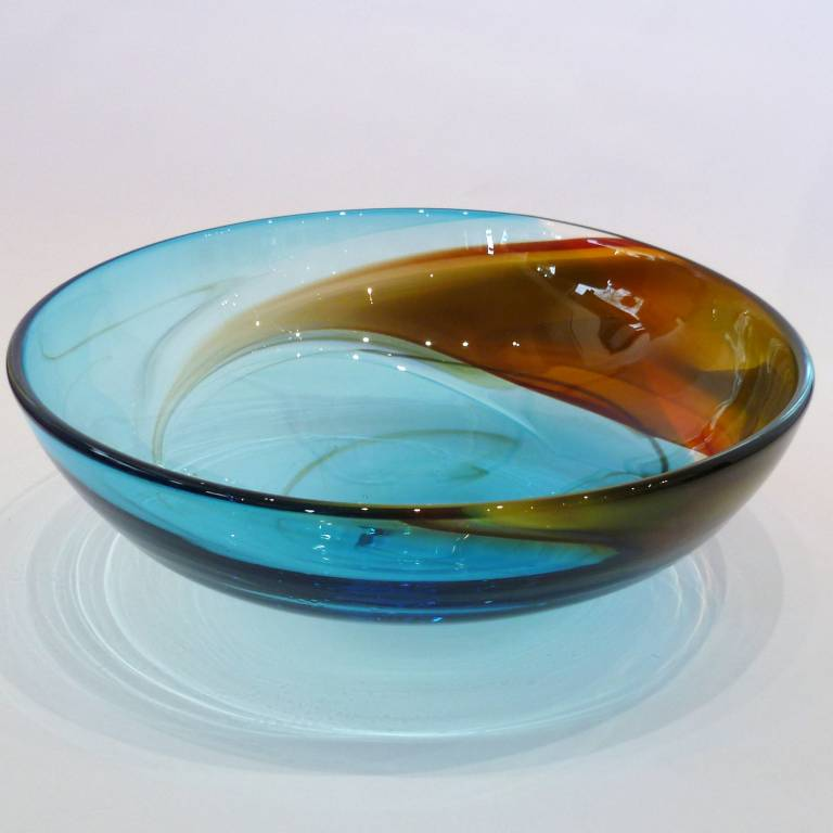 Phil  Atrill - Copper Blue Horizon Bowl