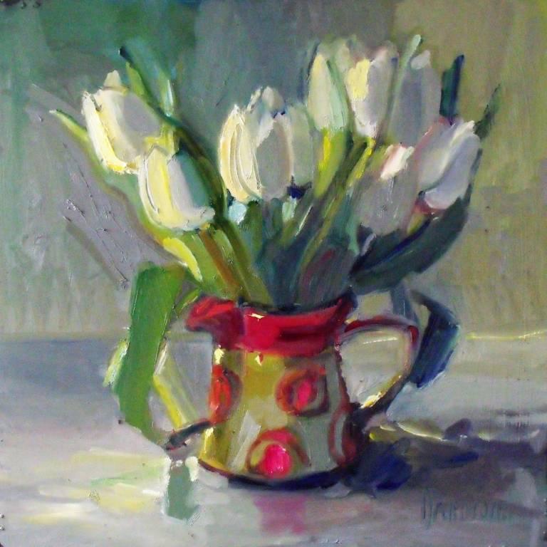 Marion Drummond PAI - White Tulips