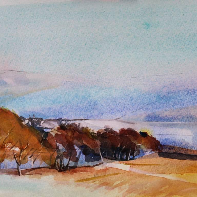 Simon  Rivett - Borderland Trees on Field Edge