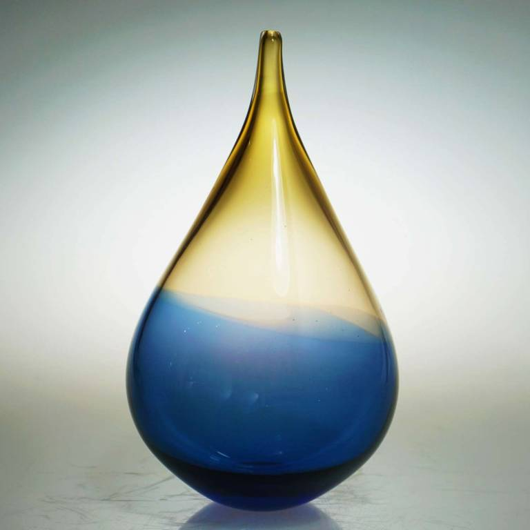 Elin Isaksson - Dew Drop Sculpture Blue & Amber