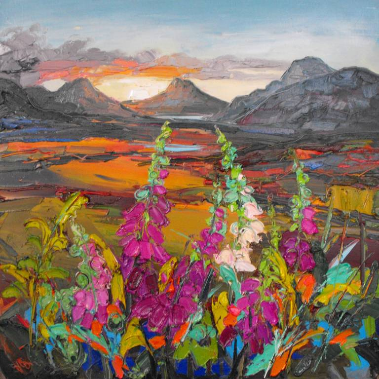 Judith Bridgland - Foxgloves in the Gloaming, Wester Ross