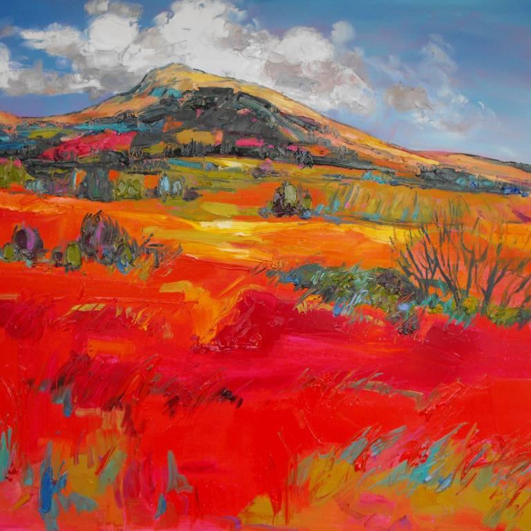 Judith Bridgland - Sunlight on Red Fields, Argyll