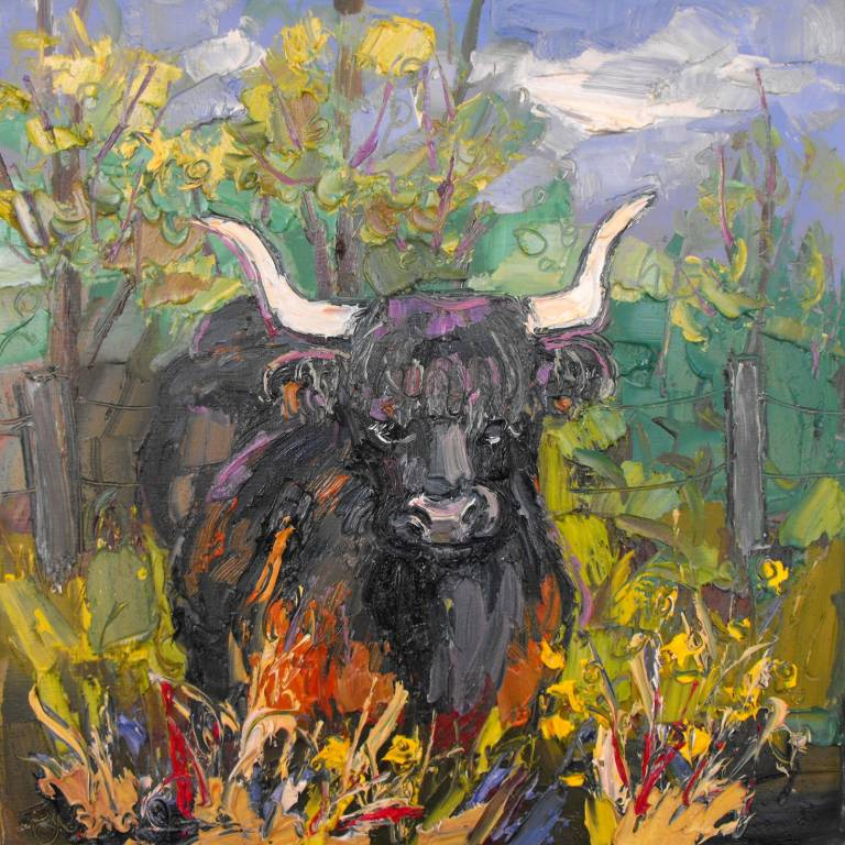 Judith Bridgland - Cow at the Side of the Road