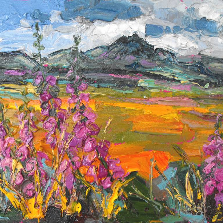 Ben Loyal with Foxgloves