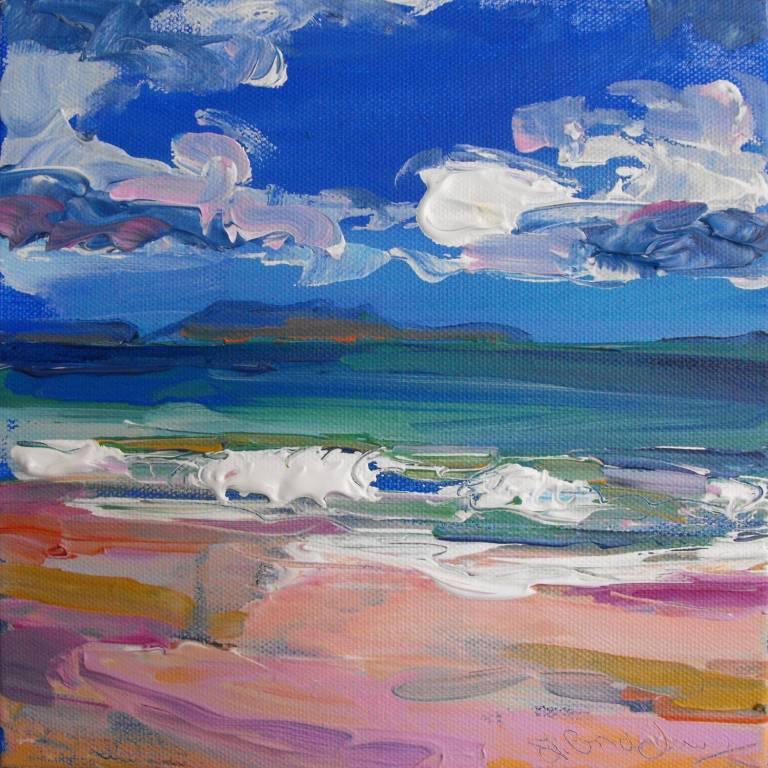 Judith Bridgland - Waves and White Sand, Cambusdarach