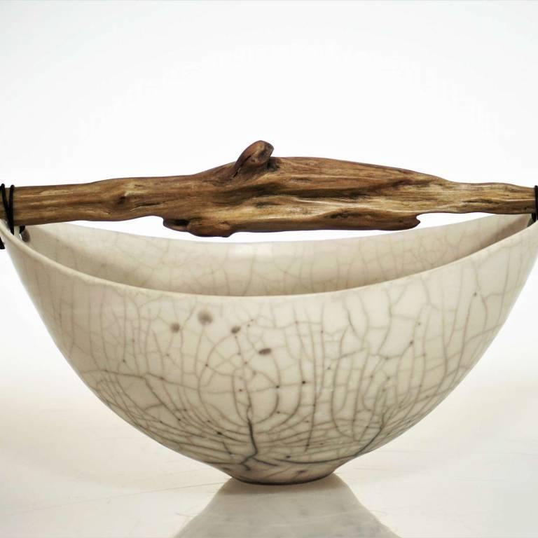 Wide Skye Crackle Bowl