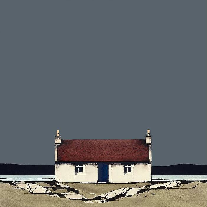 Ron  Lawson - Barra Cottage (Limited Edition Print)