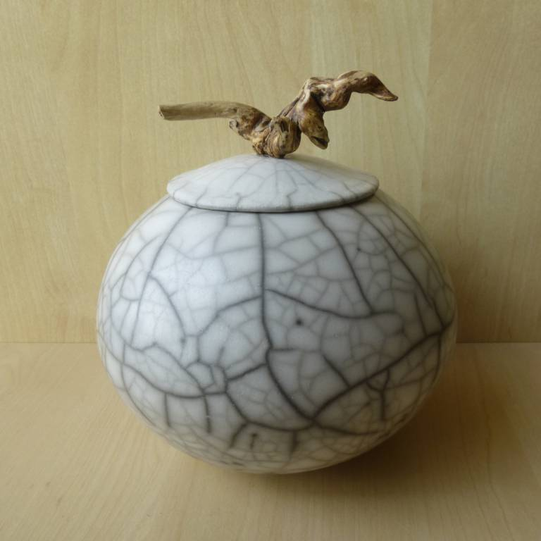 Anne Morrison - Round Lidded Pot with Twisted Wood