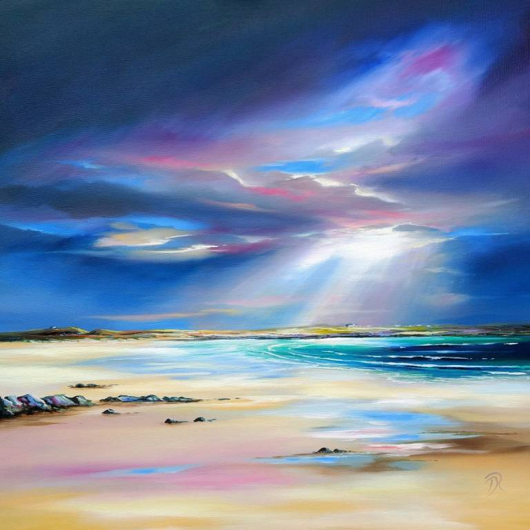 Douglas Roulston - Distant Storm at Crossapol, Tiree
