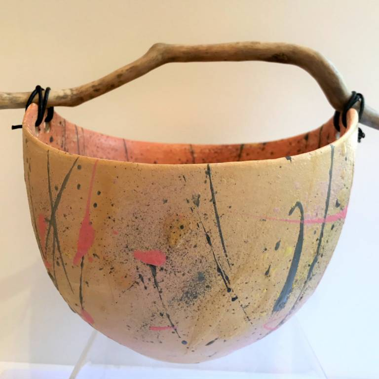 Pale Grasses' Bowl with driftwood