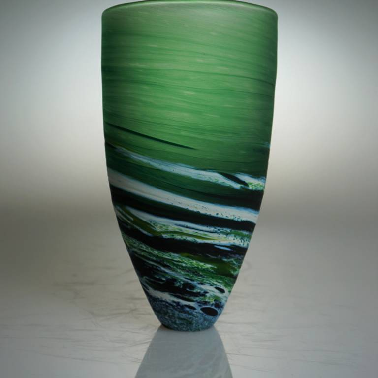 Richard Glass - Seaspray Bowl Tall Green