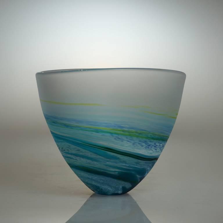 Richard Glass - Rockpoool Bowl Aqua