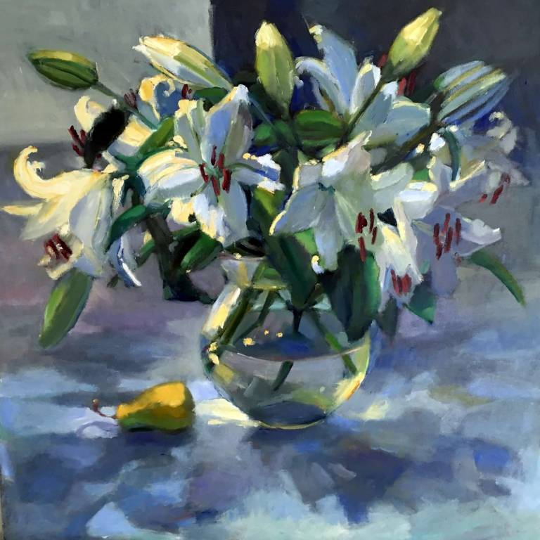 Marion Drummond PAI - Lilies and Sunlight