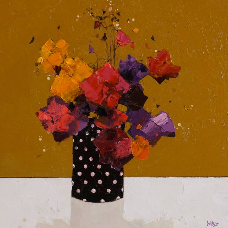 Gordon Wilson - Spotty Vase Of Pansies