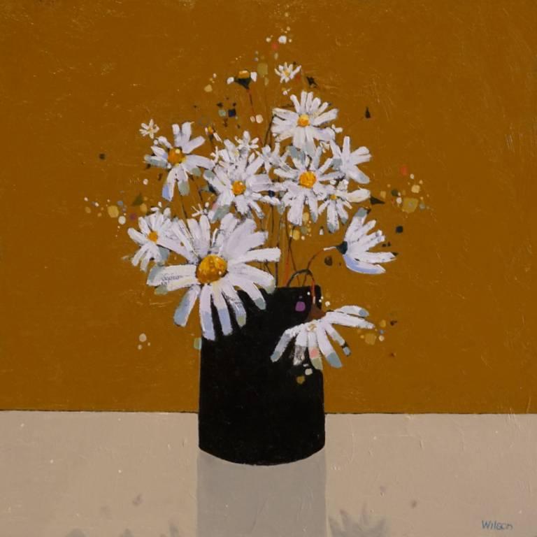 Gordon Wilson - Small Dark Vase of Marguerites