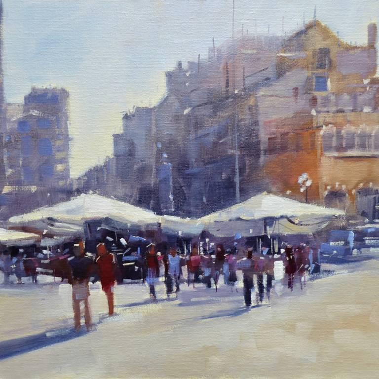 Peter Foyle - Sunlight On Piazza Delle Erbe, Verona