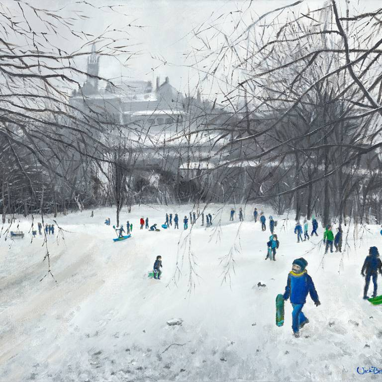Vicki Braham - Snowy Kelvingrove From The Hill