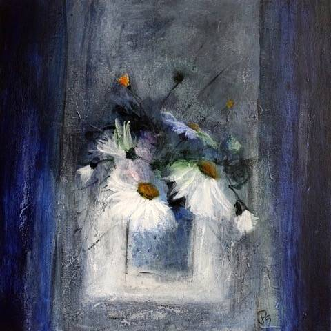 Patricia Sadler - A Few Daisies In A Vase