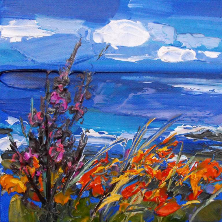 Judith Bridgland - Flowers Blown in the Wind, Causeway Coast