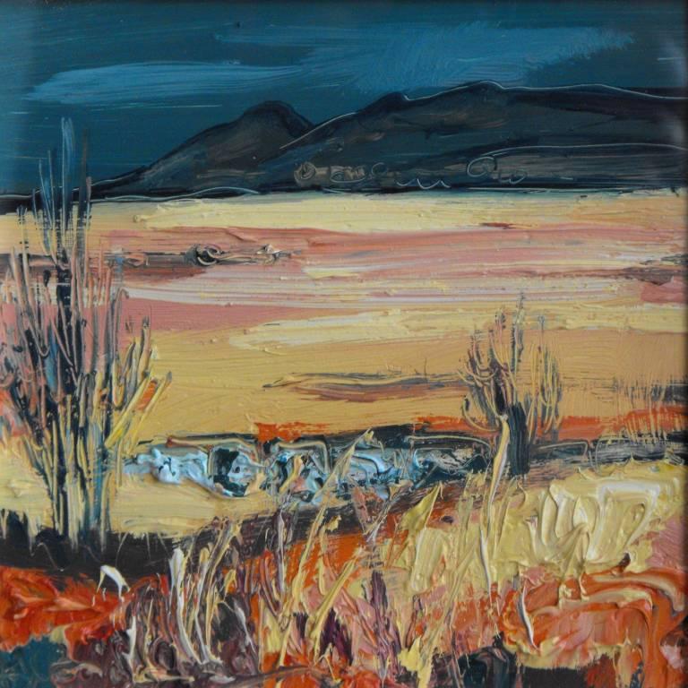 Judith Bridgland - Dark Sky, Yellow Moorland, The Campsies