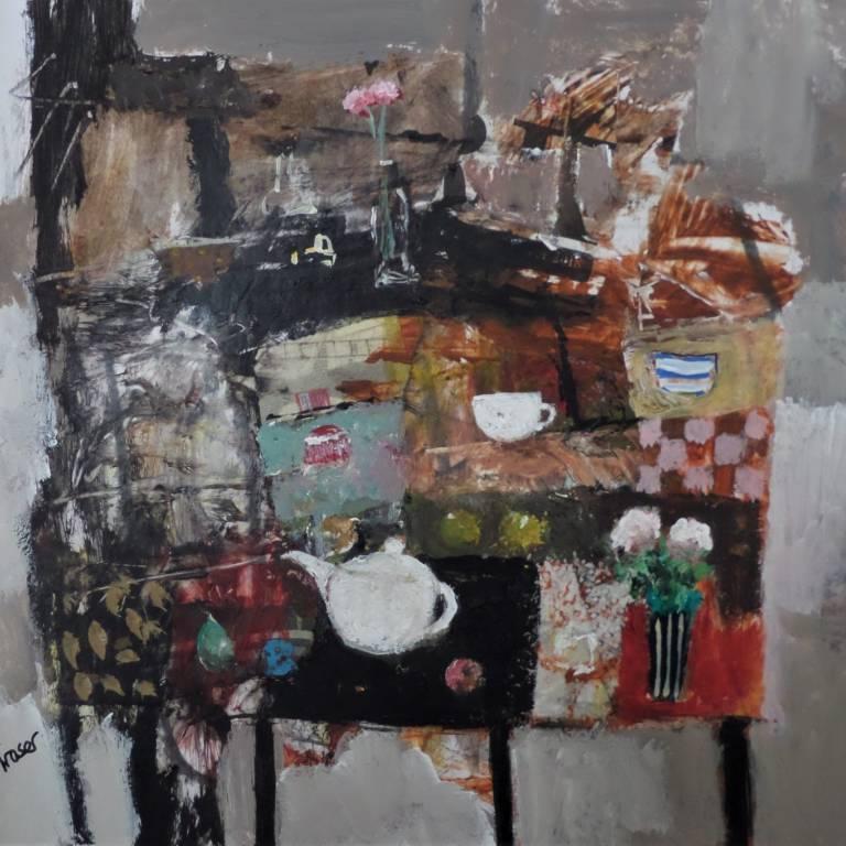 James Fraser RSW - Little White Teapot