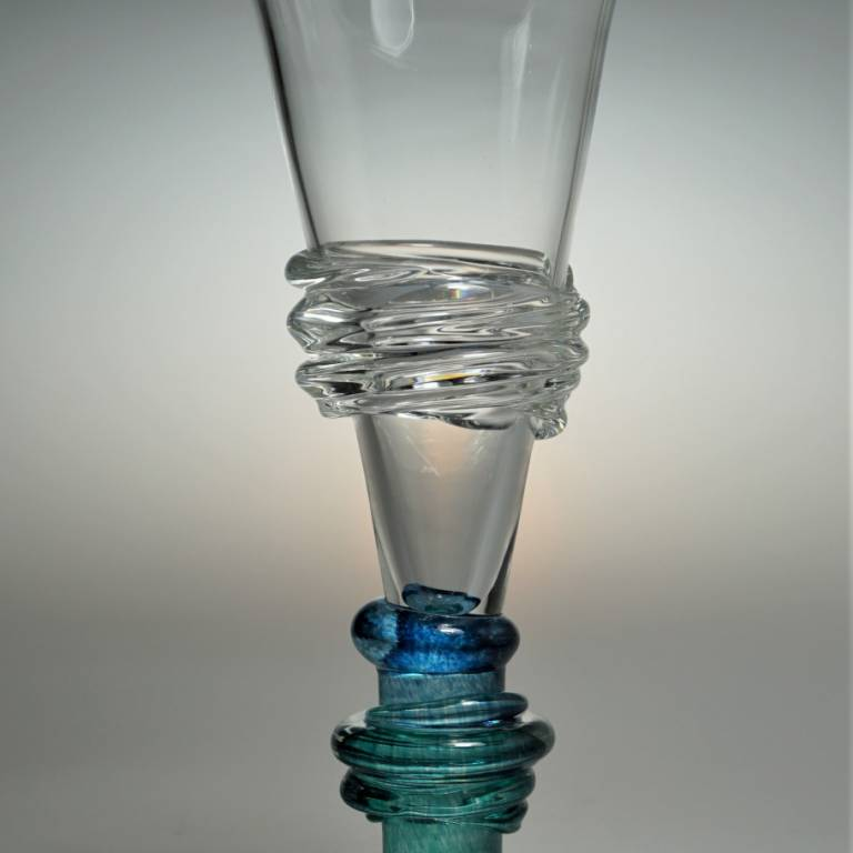 Bob Crooks - Ripple Champagne Glass
