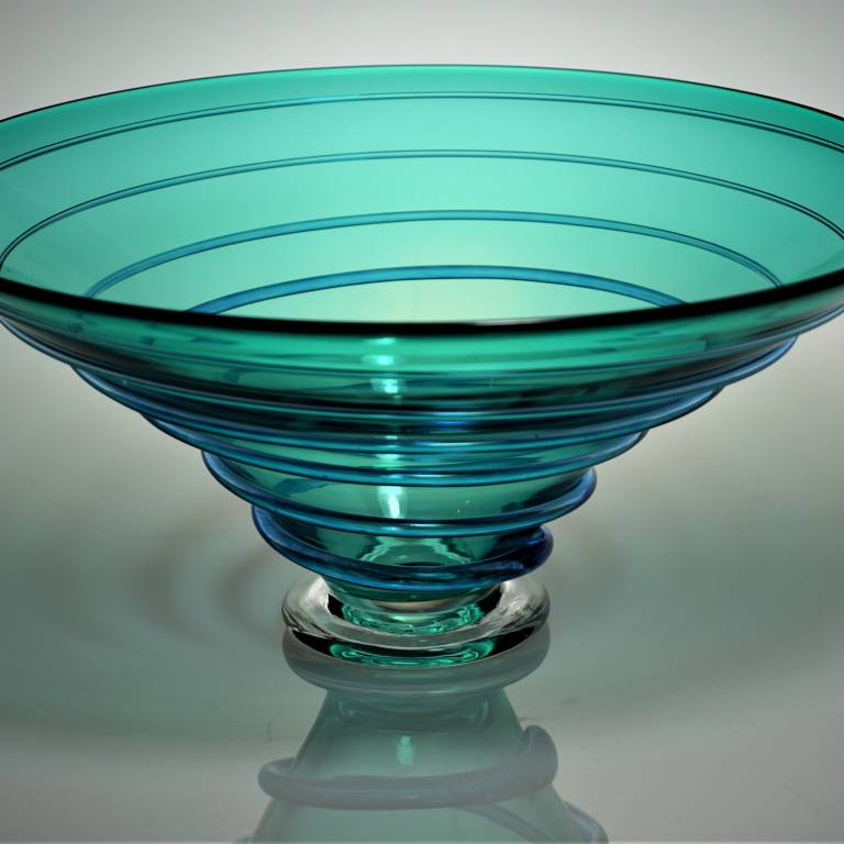 Bob Crooks - Large Spirale Bowl Turquoise