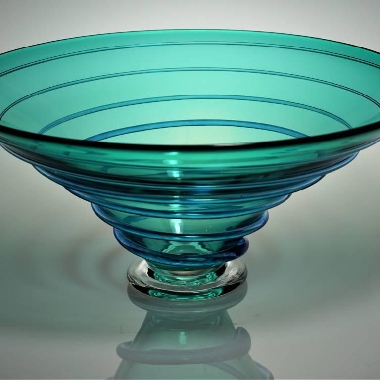 Bob Crooks - Large Spiral Bowl Turquoise