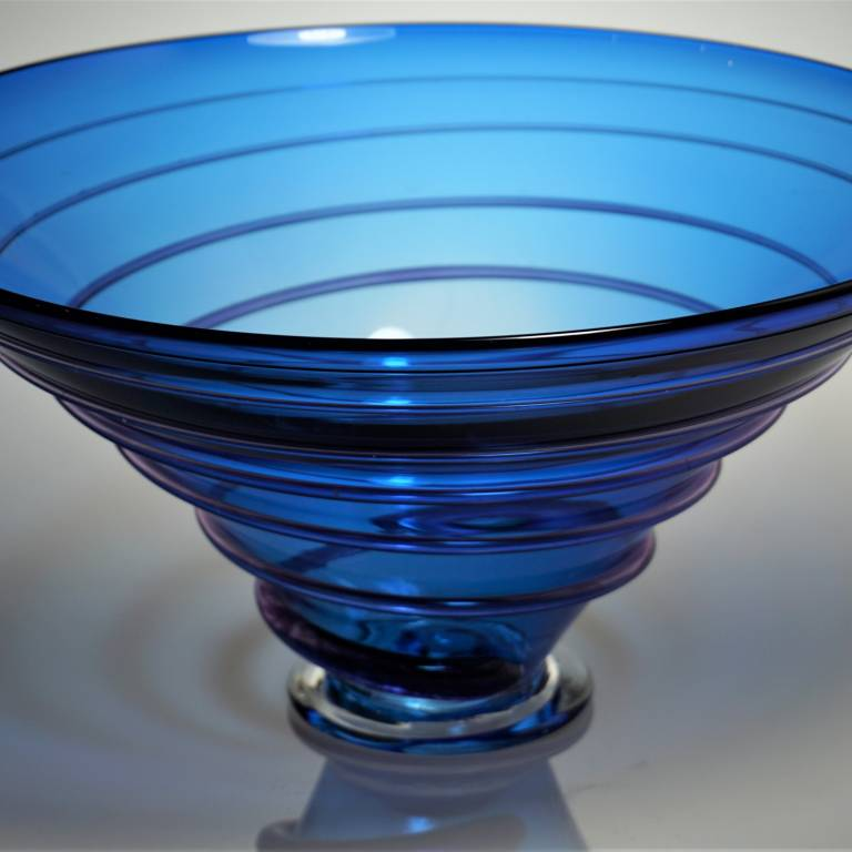 Bob Crooks - Large Spirale Bowl Blue