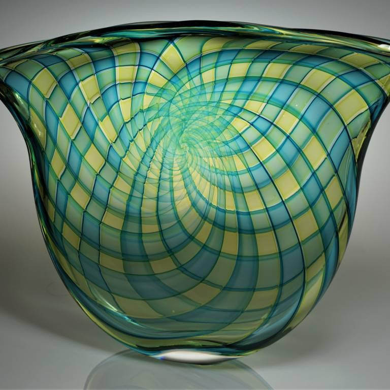 Bob Crooks - Pi Bowl Turquoise And Gold