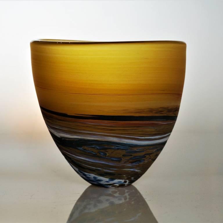 Amber Seaspray Bowl